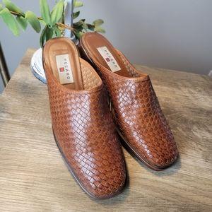 Pesaro Leather Slip on Mules 7.5